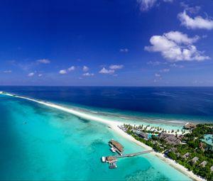 Preview wallpaper island, ocean, aerial view, tropics, vacation, paradise