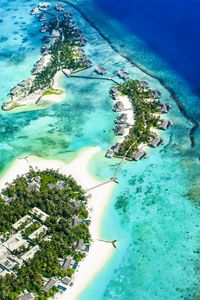 Preview wallpaper island, ocean, aerial view, coast, paradise, tropics