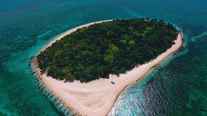 Preview wallpaper island, ocean, aerial view, tropics, sea, philippines