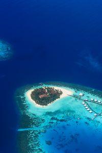 Preview wallpaper island, ocean, top view, tropics, paradise, bay