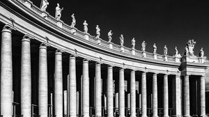 Preview wallpaper italy, rome, st peters square, bw