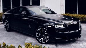 Preview wallpaper jaguar, car, black, bumper, headlights, alloy wheels, side view