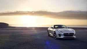 Preview wallpaper jaguar f-type, jaguar, luxury, sports car, silver