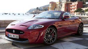 Preview wallpaper jaguar, xkr-s, convertible, side view