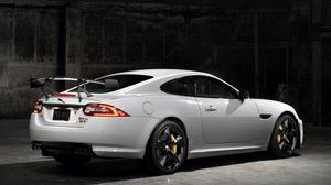 Preview wallpaper jaguar, xkr-s, gt, white, car, side view