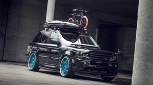 Preview wallpaper jeep, black, tuning, land rover
