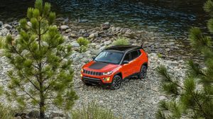 Preview wallpaper jeep, compass, 2017, side view