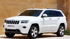 Preview wallpaper jeep, grand cherokee, overland, sedan, white