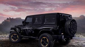 Preview wallpaper jeep, wrangler, dragon, concept, auto, black, suv