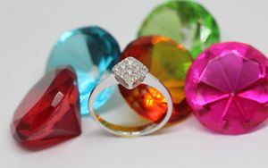 Preview wallpaper jewelry, diamond, ring, gold