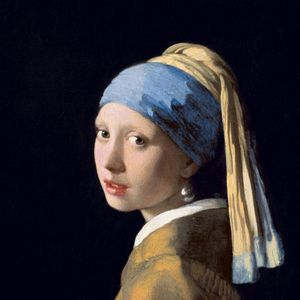 Preview wallpaper johannes vermeer, girl with a pearl earring, oil, canvas, art