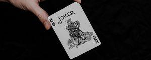 Preview wallpaper joker, playing card, card, word, hand