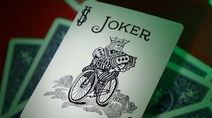 Preview wallpaper joker, word, inscription, cards