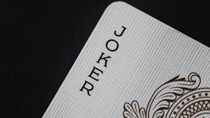 Preview wallpaper joker, word, lettering, playing card