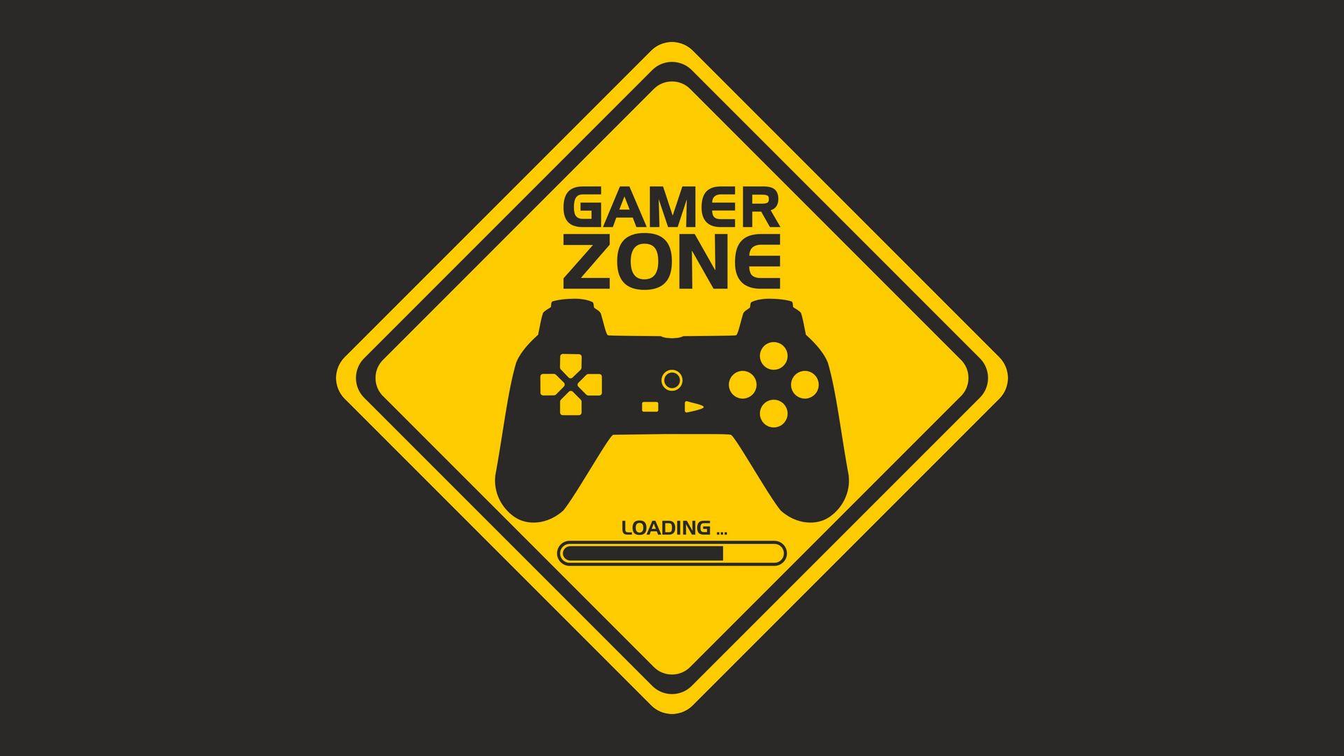 1920x1080 Wallpaper joystick, controller, gamer zone, player
