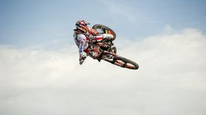 Preview wallpaper jump, sports, motorcycle