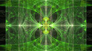 Preview wallpaper kaleidoscope, fractal, pattern, green, abstraction