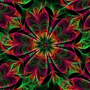 Preview wallpaper kaleidoscope, patterns, colors