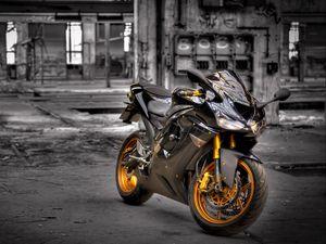 Preview wallpaper kawasaki zx6-r, motorcycle, background