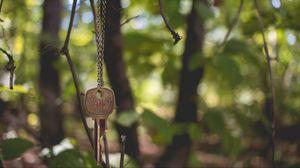 Preview wallpaper key, chain, blur