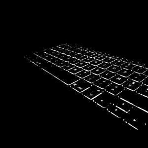 Preview wallpaper keyboard, backlight, black and white, black