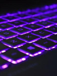 Preview wallpaper keyboard, backlight, purple
