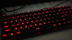 Preview wallpaper keyboard, backlight, red