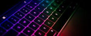 Preview wallpaper keyboard, laptop, gradient, colorful, technology