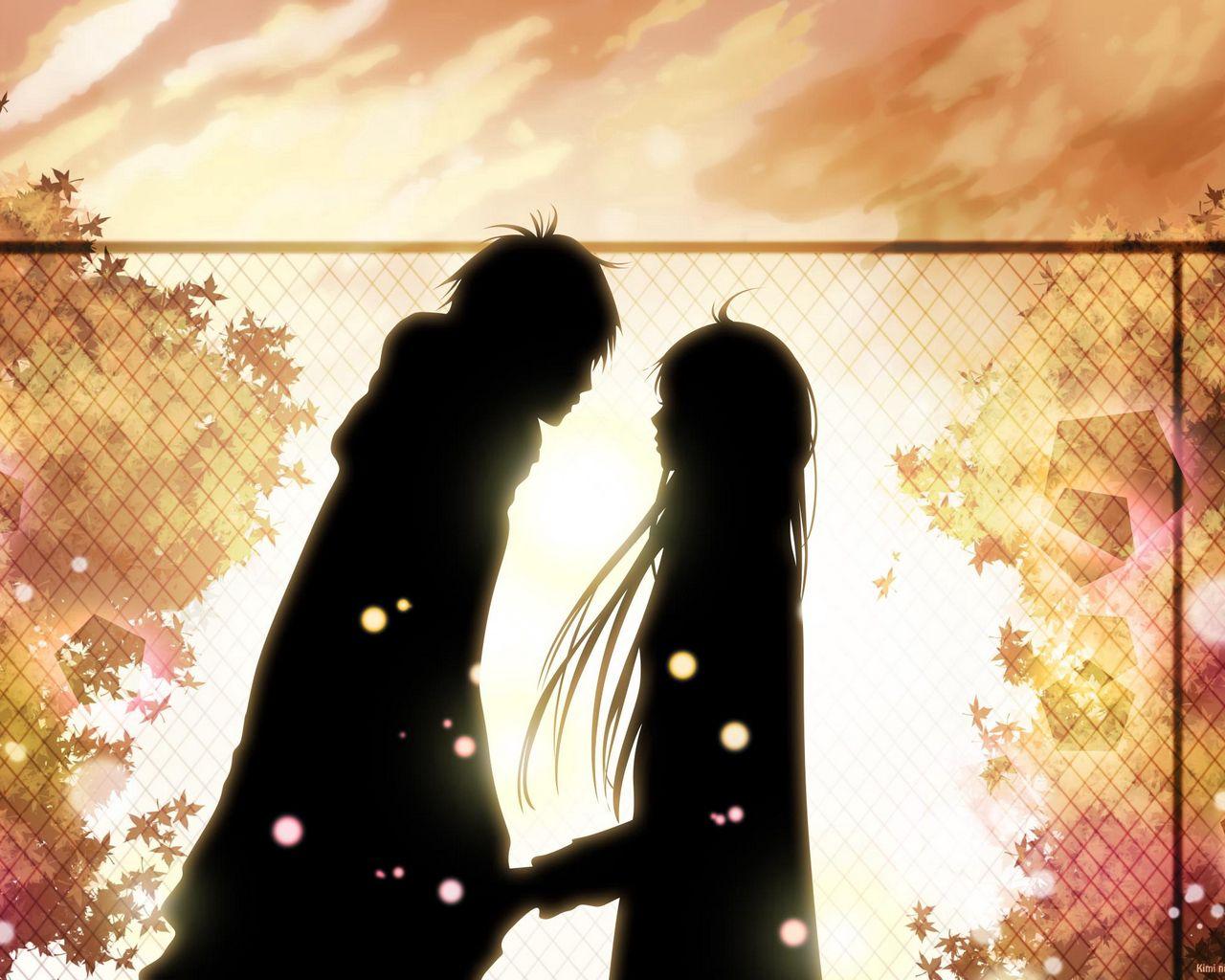 1280x1024 Wallpaper kimi ni todoke, girl, boy, love, feelings, meet, date, fall, leaves