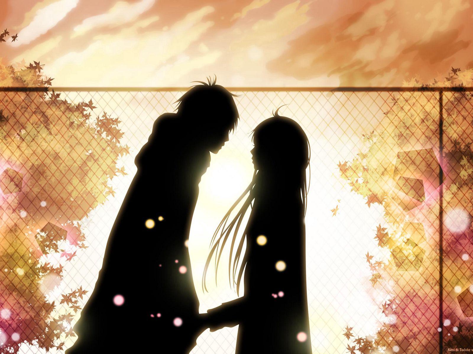 1600x1200 Wallpaper kimi ni todoke, girl, boy, love, feelings, meet, date, fall, leaves