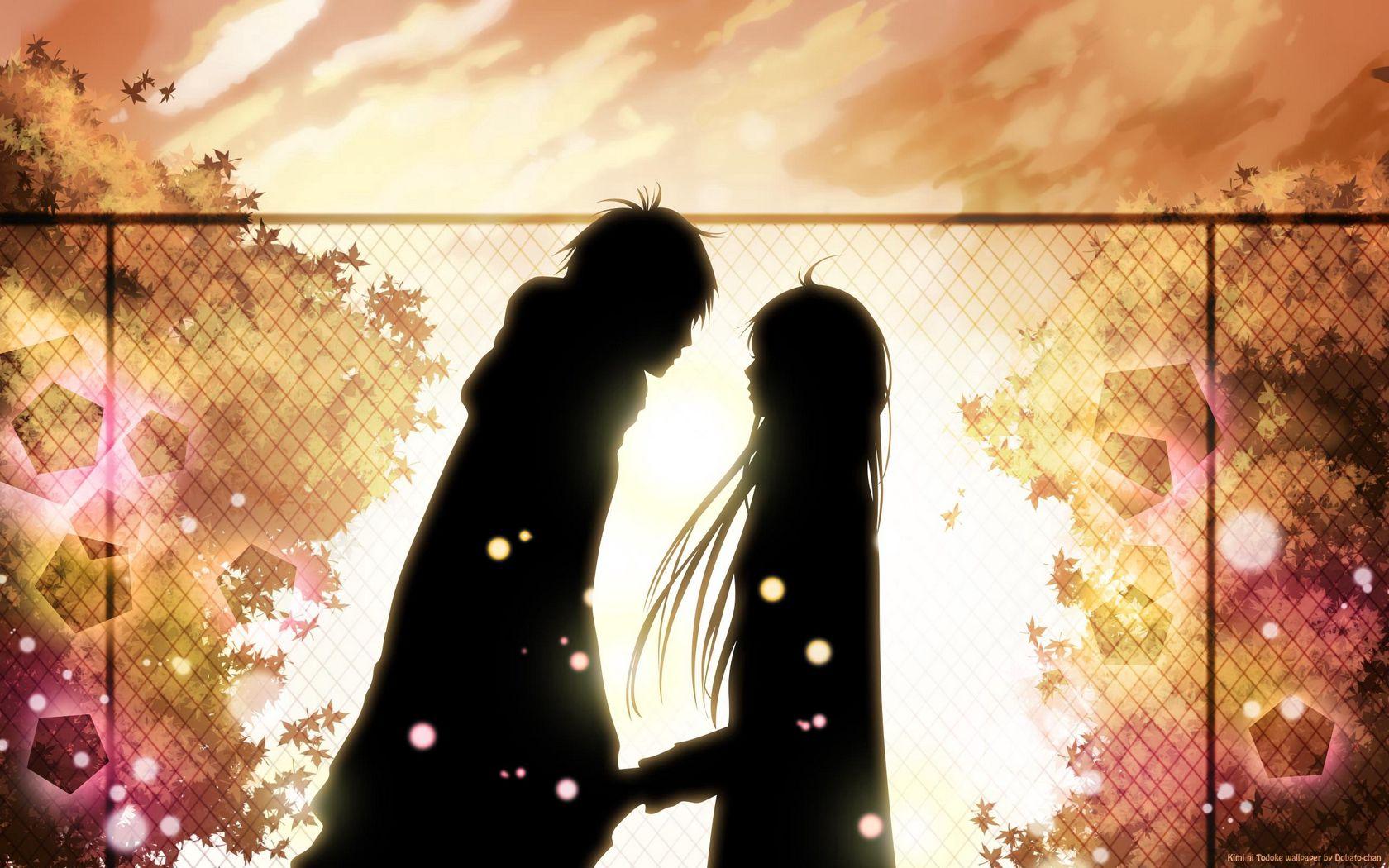 1680x1050 Wallpaper kimi ni todoke, girl, boy, love, feelings, meet, date, fall, leaves