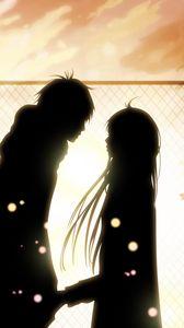 Preview wallpaper kimi ni todoke, girl, boy, love, feelings, meet, date, fall, leaves