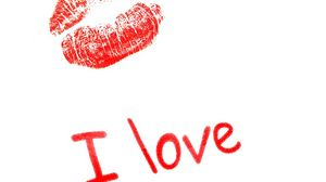 Preview wallpaper kiss, lips, lettering, love, recognition