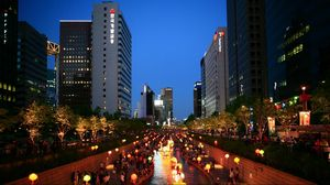 Preview wallpaper korea, asia, seoul, south korea, night, city, lights city