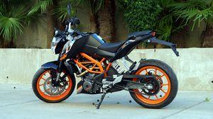 Preview wallpaper ktm, motorcycle, bike, black, orange, moto