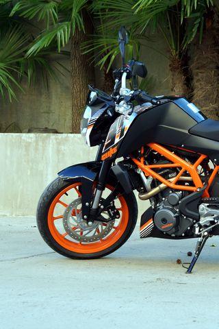 320x480 Wallpaper ktm, motorcycle, bike, black, orange, moto