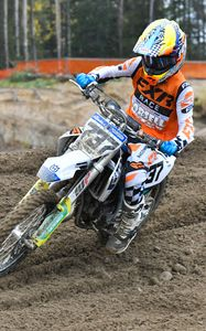 Preview wallpaper ktm, motorcycle, bike, motorcyclist, dirt, rally