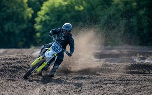 Preview wallpaper ktm, motorcycle, motorcyclist, rally, dirt