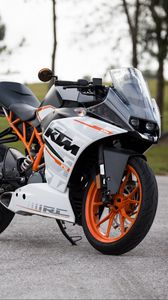 Preview wallpaper ktm, motorcycle, side view