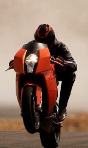Preview wallpaper ktm rc8, beautiful, sport bike, road, trick