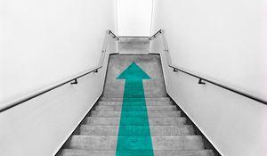 Preview wallpaper ladder, arrow, minimalism, pointer