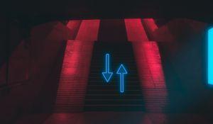 Preview wallpaper ladder, arrows, neon, pointer