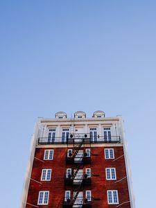 Preview wallpaper ladder, building, sky