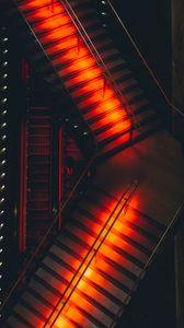 Preview wallpaper ladder, lights, red, design