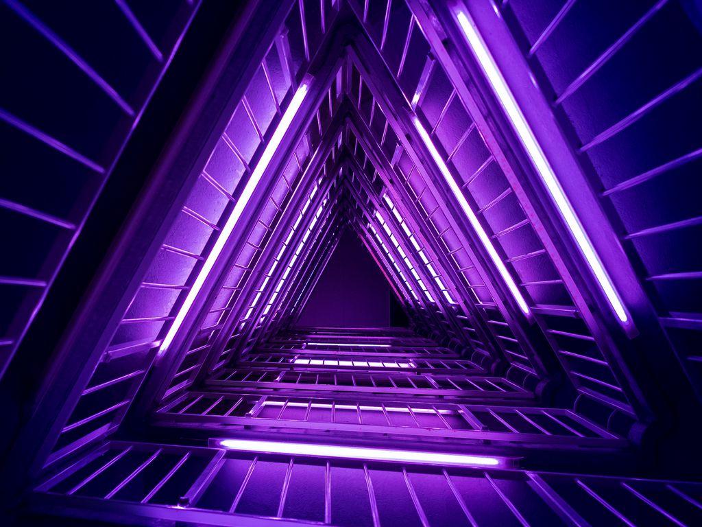 1024x768 Wallpaper ladder, purple, light