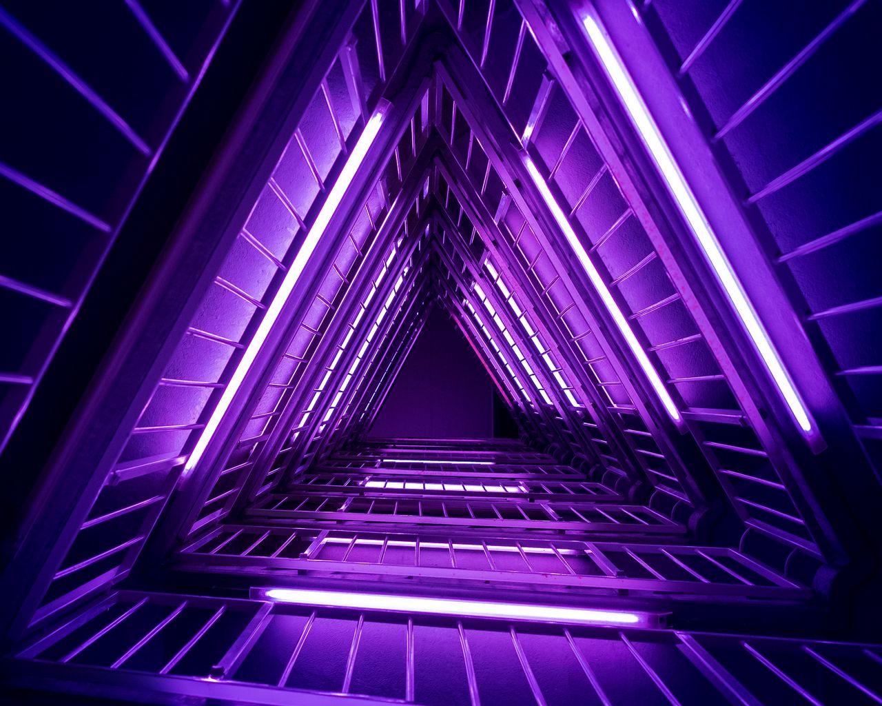 1280x1024 Wallpaper ladder, purple, light