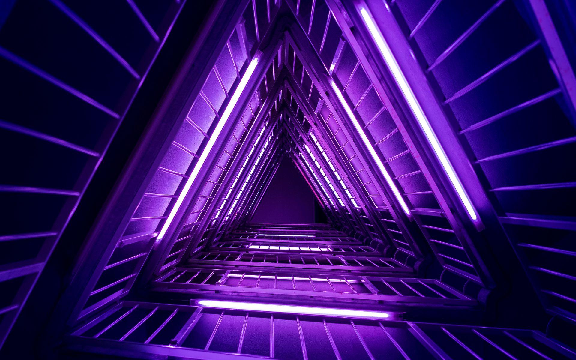 1920x1200 Wallpaper ladder, purple, light