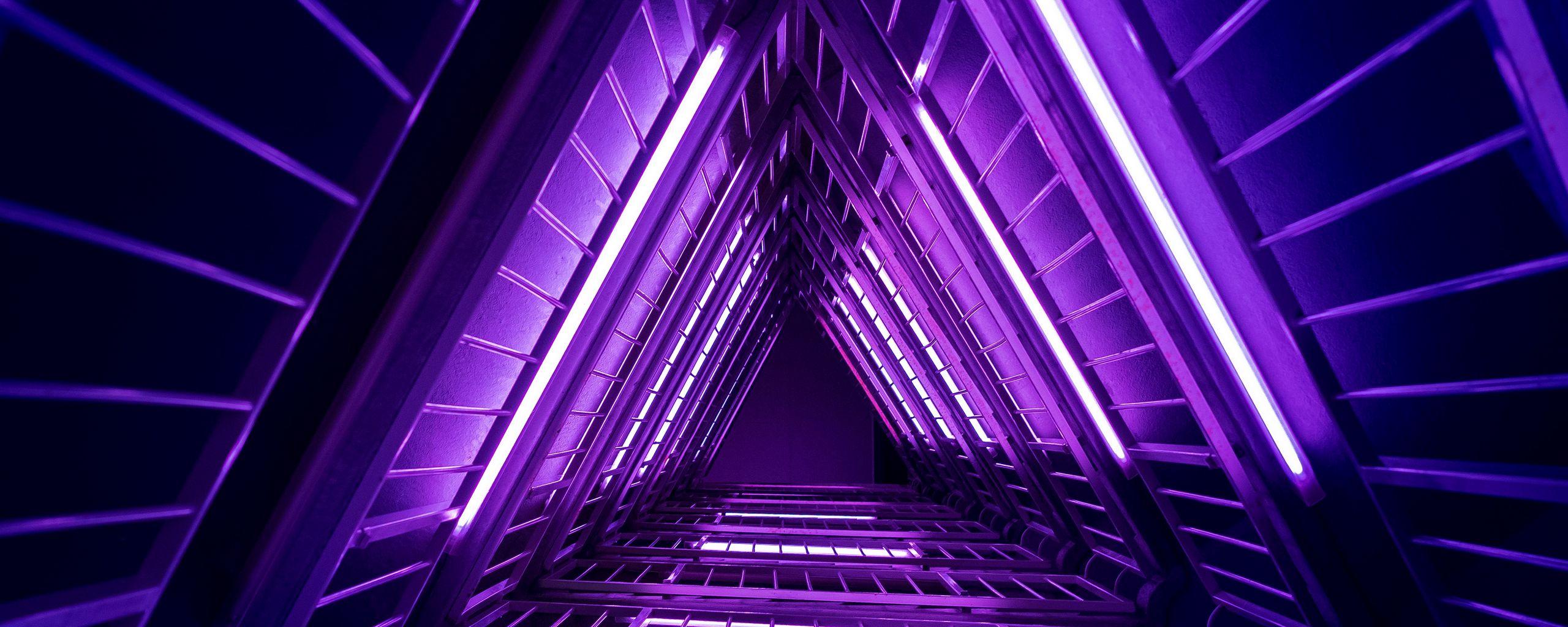 2560x1024 Wallpaper ladder, purple, light