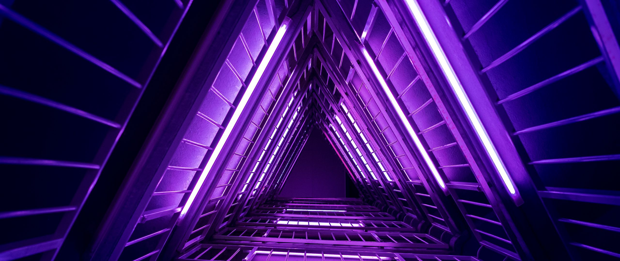 2560x1080 Wallpaper ladder, purple, light