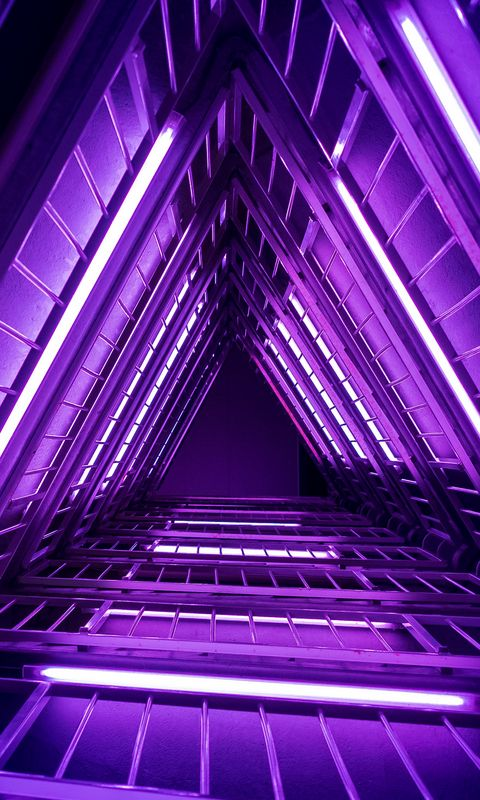 480x800 Wallpaper ladder, purple, light